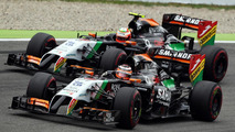 Nico Hulkenberg (GER) leads team mate Sergio Perez (MEX), 20.07.2014, German Grand Prix, Hockenheim / XPB