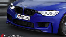 2014 BMW M4 speculative rendering by Iacoski, 600, 30.12.2011