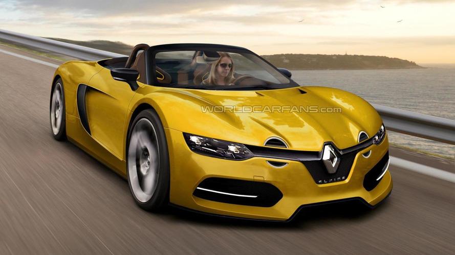 Renault Alpine Spider render has great potential