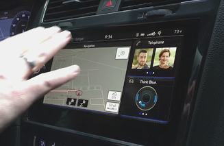 CES 2016: VW e-Golf Touch Brings Gesture Control to the Car