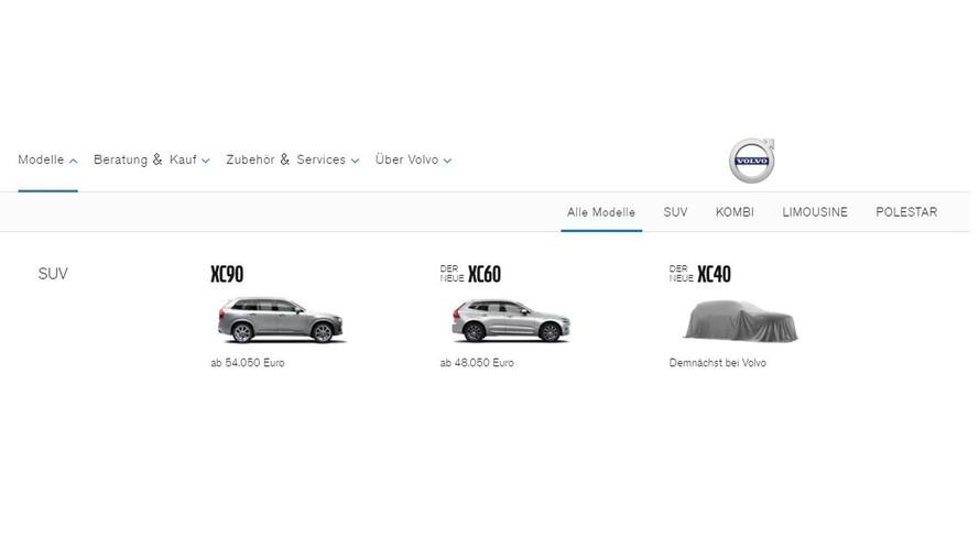 Volvo internet sitelerinde XC40'ı listelemeye başladı
