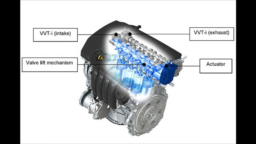 Toyota bringt Motorentechnologie Valvematic für Benziner