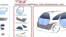 Fioravanti TRIS concept design sketch