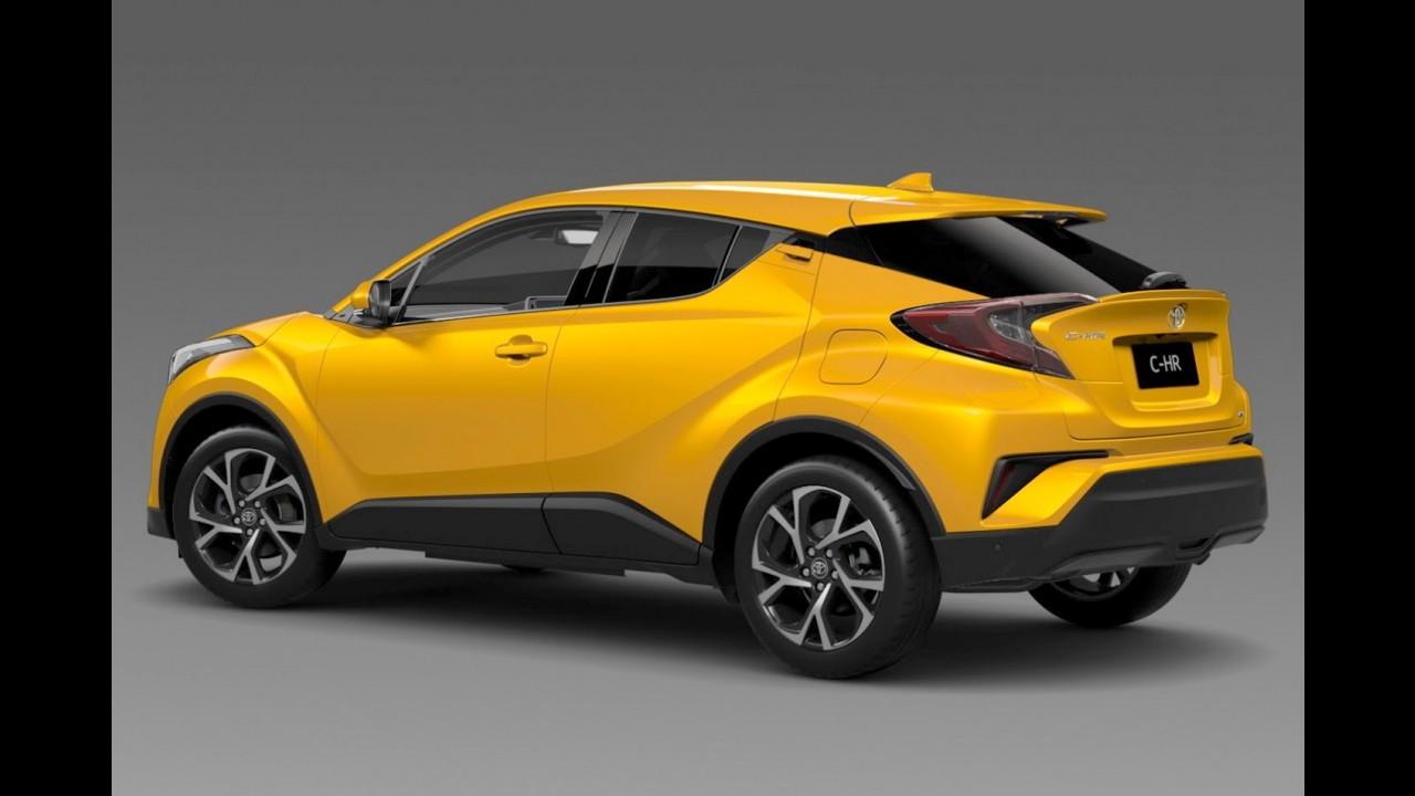 """Novo Toyota C-HR: interior da versão """"não híbrida"""" e cores mais chamativas"""