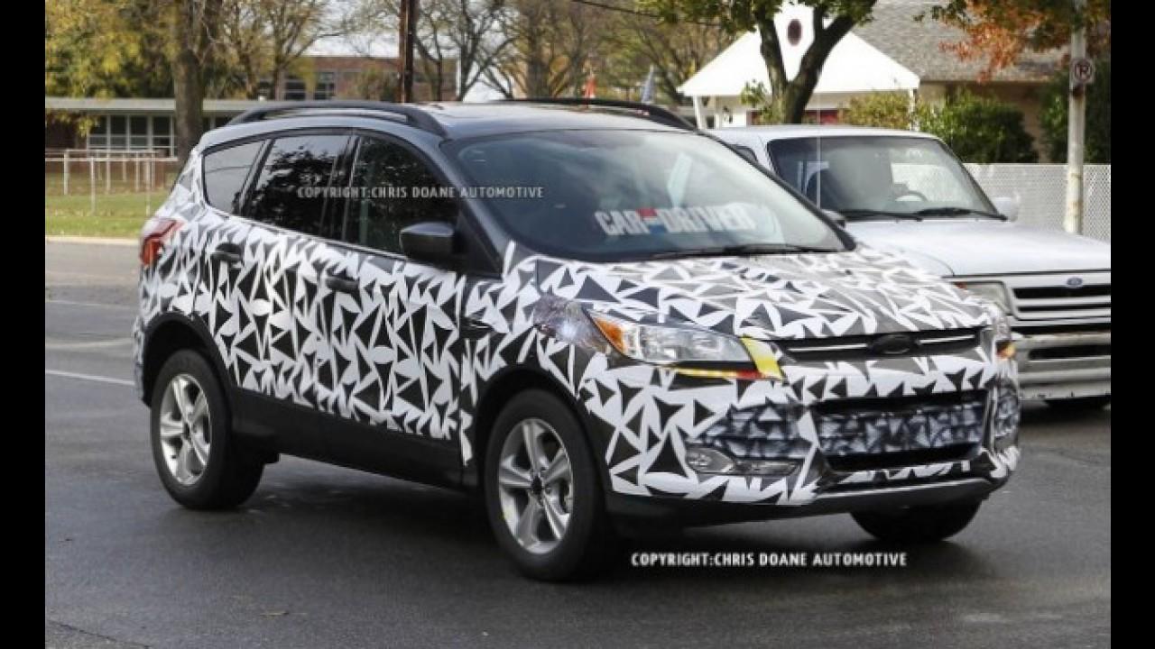 Flagra: Ford Escape 2013 com pouca camuflagem