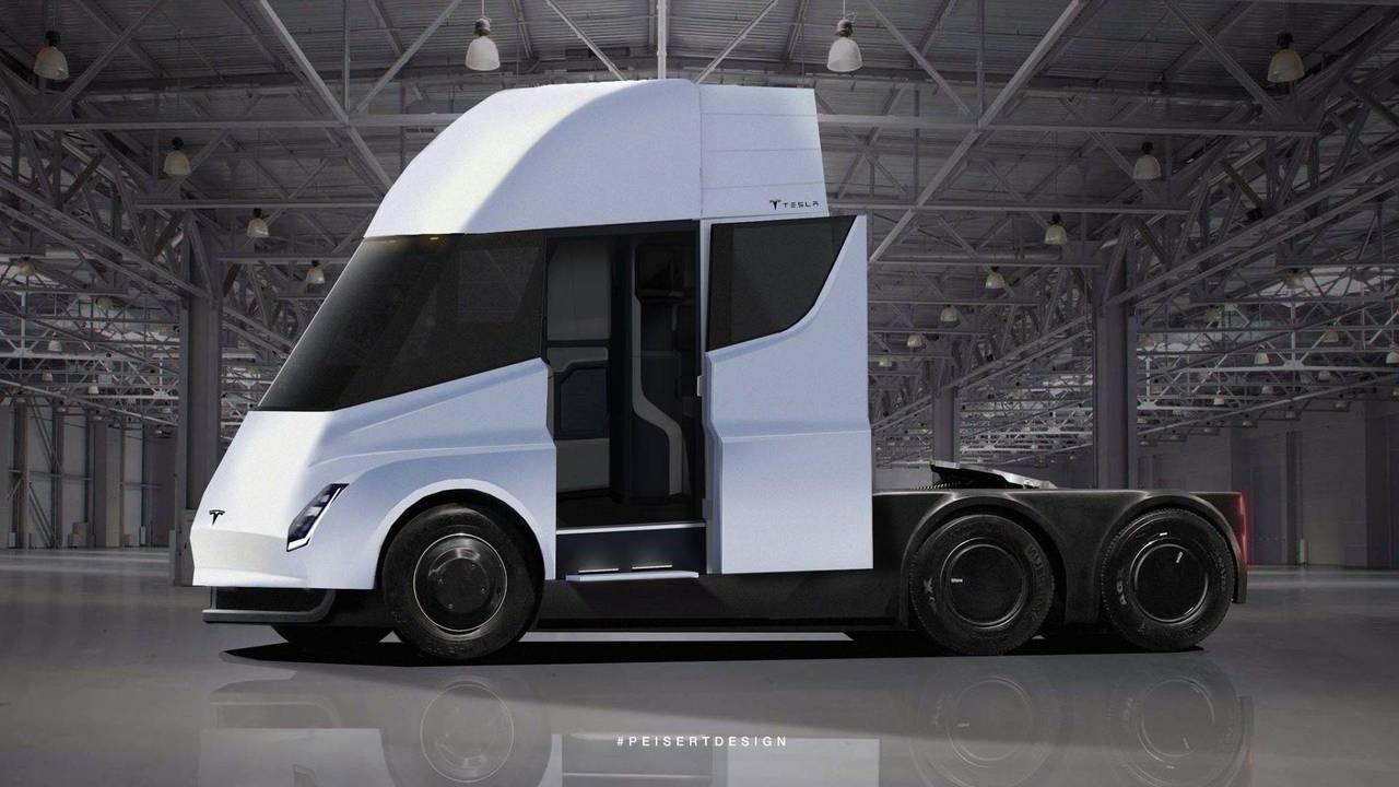Tesla Semi TIR render