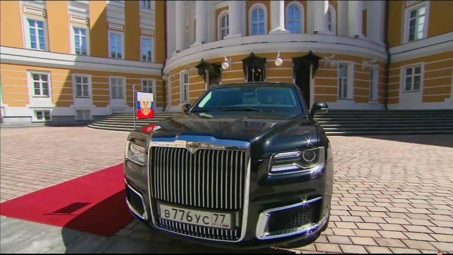 Elnöki beiktatásán debütált Putyin vadonatúj limuzinja