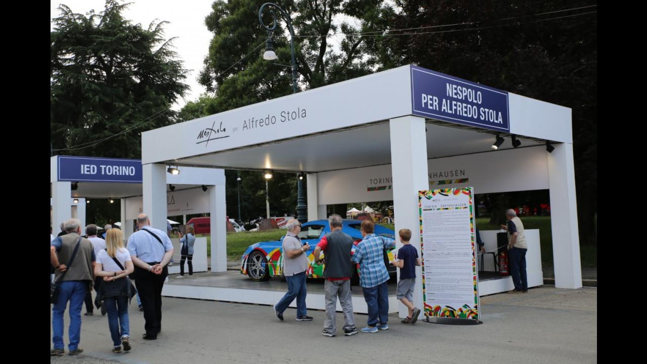 Nespolo per Alfredo Stola a Parco Valentino 2017
