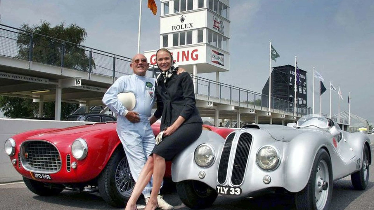 Legend Stirling Moss & Supermodel Jodie Kidd