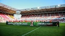 Une banderole pour Michael Schumacher