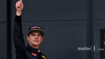 Max Verstappen, Red Bull Racing RB12 celebrate his third place after the qualifying