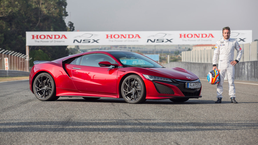 Watch Fernando Alonso do hot laps in the Acura NSX