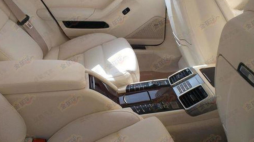 2014 Porsche Panamera interior spied, long-wheelbase version likely