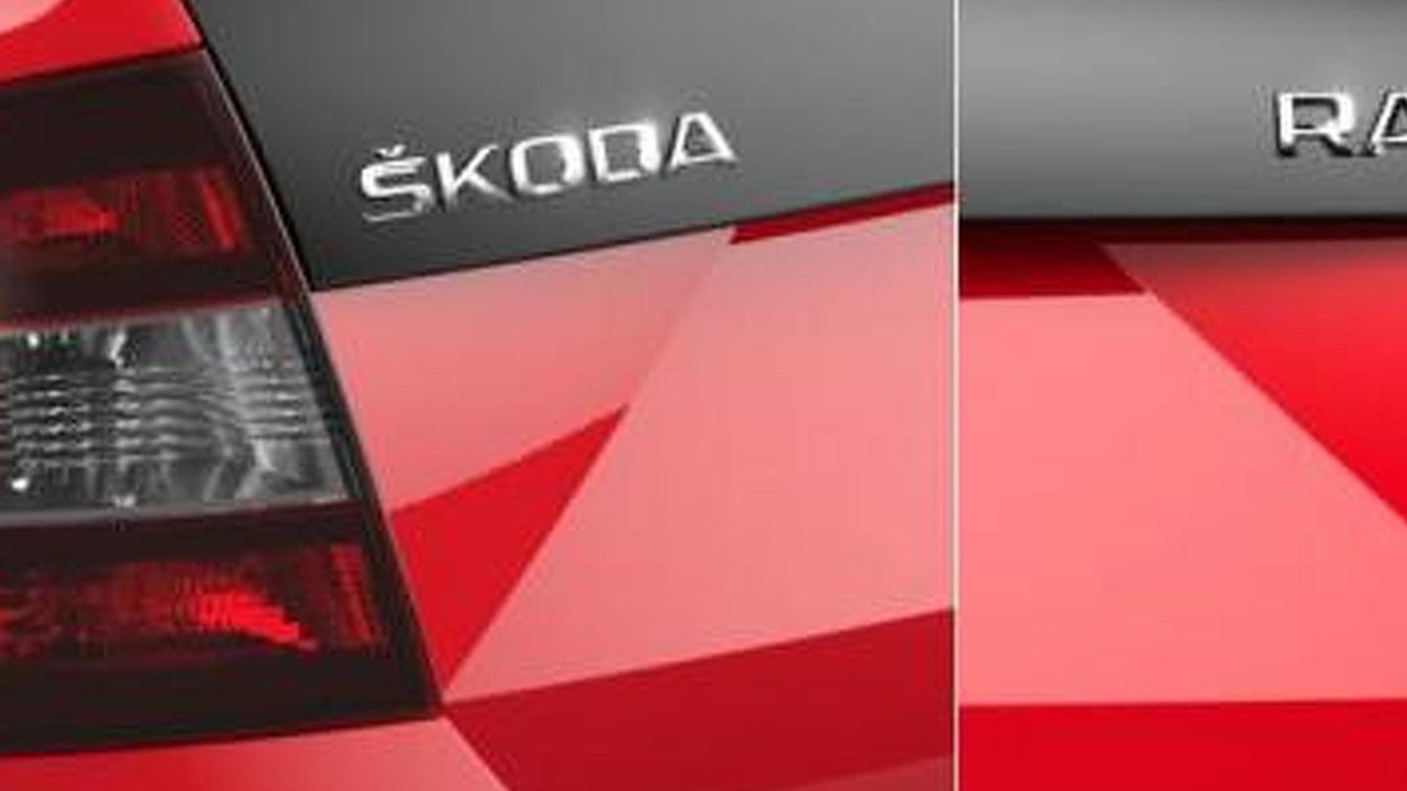 Skoda Rapid Spaceback teaser photo 12.07.2013