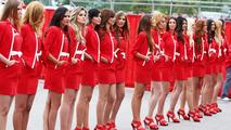 Barcelona grid girls