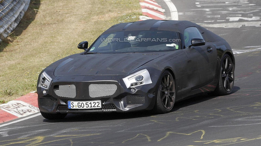 Mercedes-Benz SLC spied testing again at Nurburgring