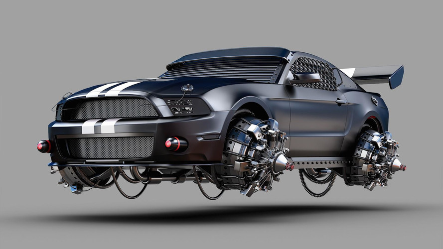 Artist Creates Crazy Post-Apocalyptic Hovercraft Cars (65 Images)