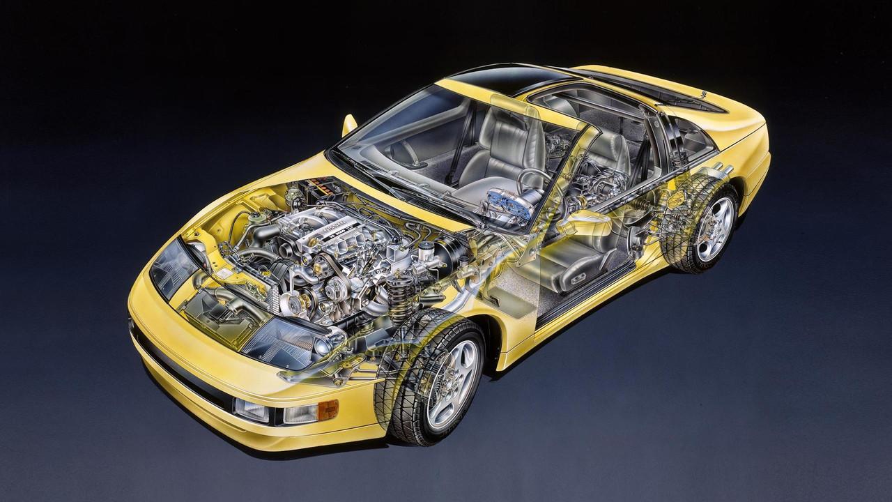 1990 Nissan 300ZX Prototype Cutaway Sketch By David Kimble