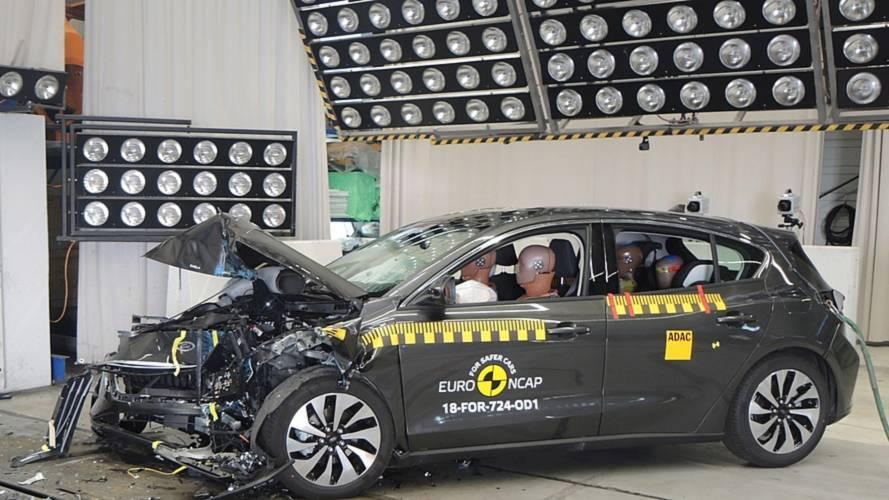 Crash test Euro NCAP Ford Focus and Volvo XC40