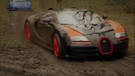 Des Bugatti se prennent un bain de boue