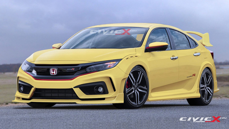 Honda Civic Type R hatchback superbly rendered