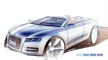 Sketch of Audi A5 Cabrio