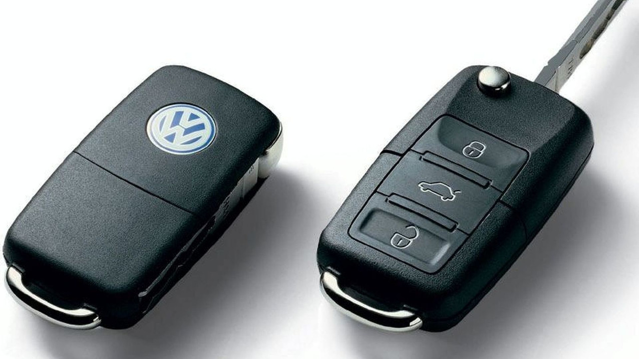 VW multi-functional remote control folding key