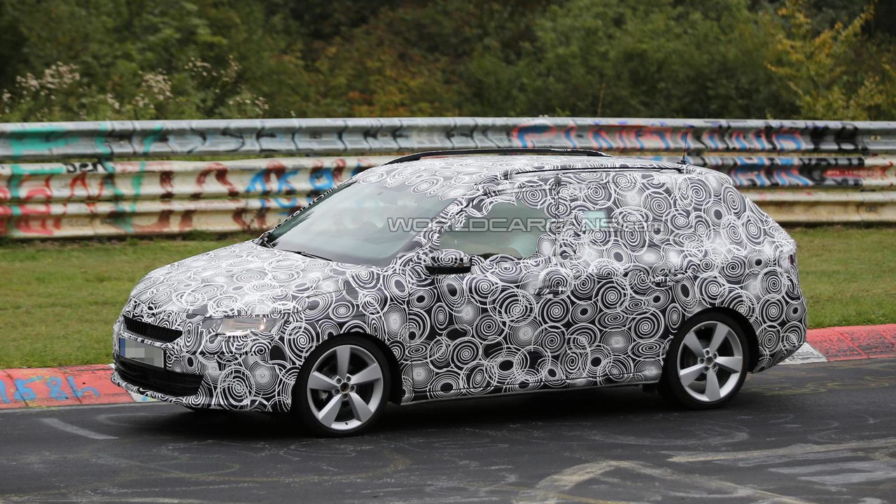Fully Camouflaged 2015 Skoda Fabia Combi Spied On The