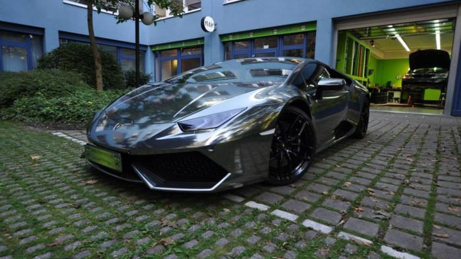 Оклейка винилом Lamborghini Huracan от Print Tech