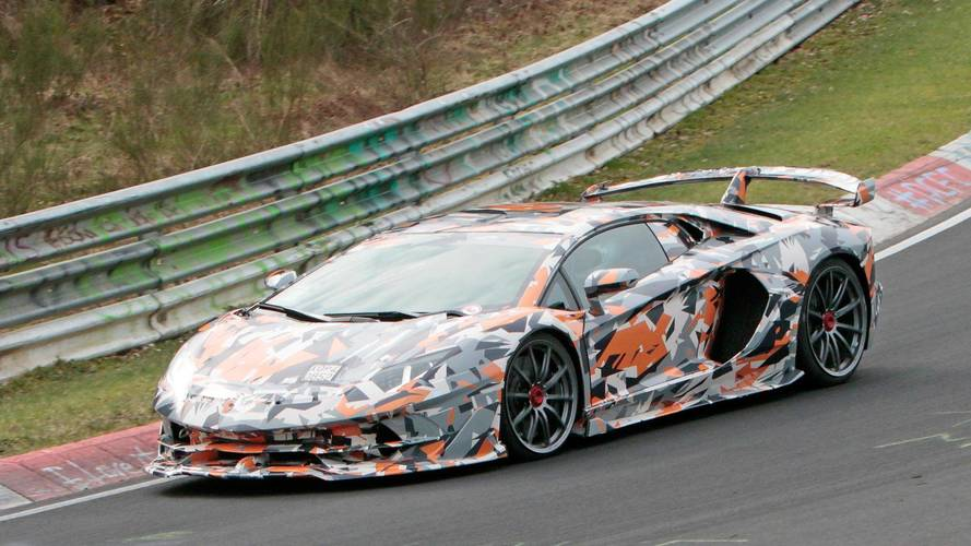 Lamborghini Aventador SVJ Spied With Its Wild Body At The 'Ring