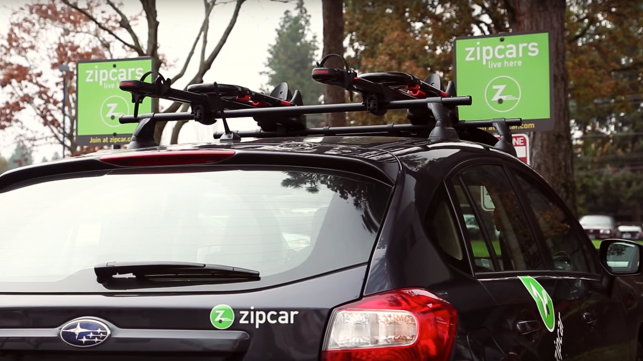 Subaru Zipcar with Yakima roof rack