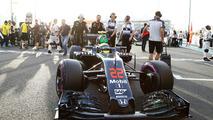 Jenson Button, McLaren arrives on the grid