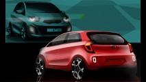 Novo Kia Picanto 2012 - Marca divulga esboço da nova geração
