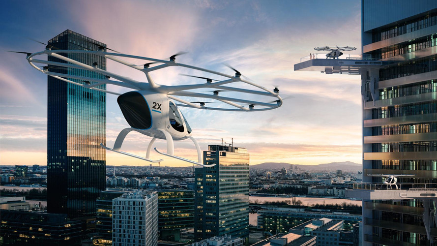 Daimler Invests In Volocopter Electric Flying Taxi
