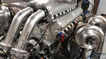 Devel Sixteen's V16 12.3-liter quad-turbo engine