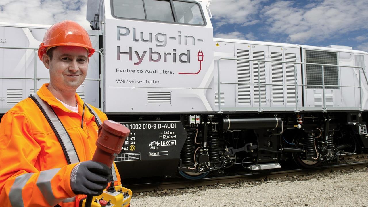 Audi's hybrid Alstom locomotive