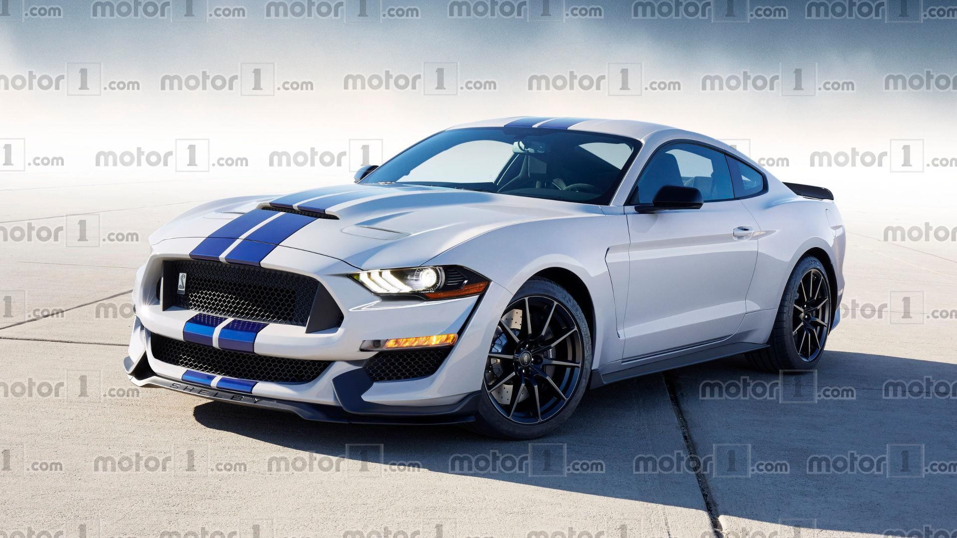 2019 ford mustang shelby gt500 looks aggressive in new rendering. Black Bedroom Furniture Sets. Home Design Ideas