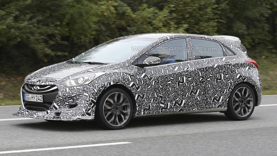 Hyundai i30 N hot hatch spied near the company's Nürburgring technical center