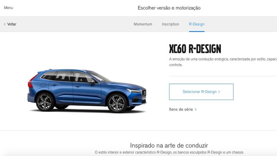 Novo XC60 já pode ser configurado no site brasileiro da Volvo