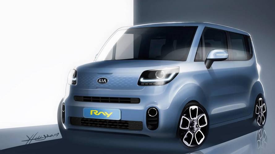 Teaser del próximo KIA Ray: un coche urbano, eléctrico y funcional