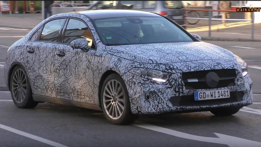 Mercedes A-Class Sedan Stalked On The Road