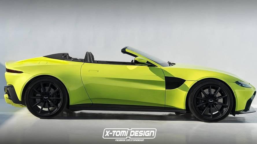 Aston Martin Vantage'a üstü açık