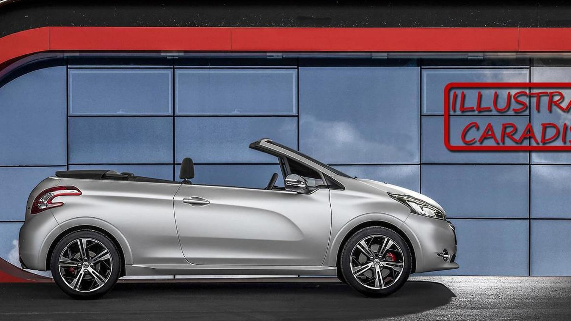 peugeot 208 convertible due in 2015 with soft top report. Black Bedroom Furniture Sets. Home Design Ideas