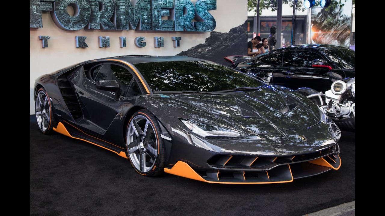 Transformers 5, la Lamborghini Centenario sul red carpet