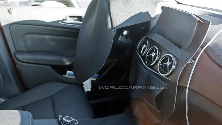 2015 Mercedes B-Class facelift spied inside & out