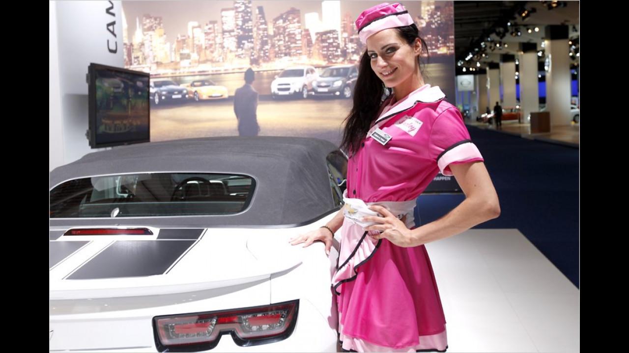 Lecker, lecker: Hier wird uns der neue Camaro serviert