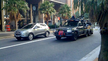Hyundai Tucson ix35 spied filming TV commercial in Sydney
