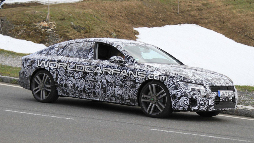 2011 Audi A7 spied next to A8