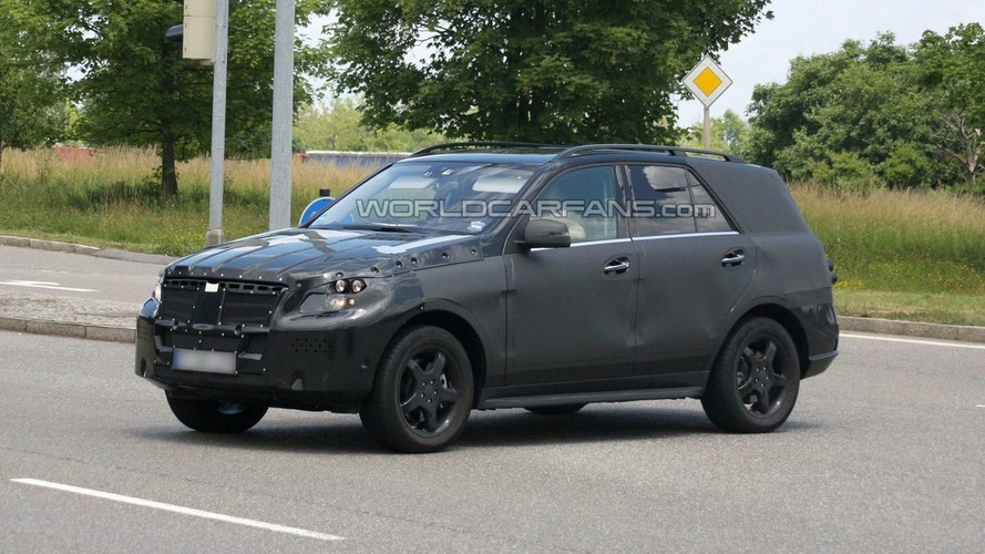 2012 Mercedes-Benz ML-Class first prototype spied