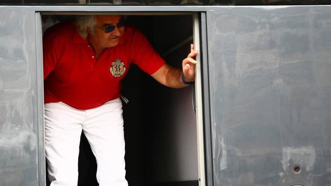 Flavio Briatore (ITA) on Bernie Ecclestone's (GBR) motorhome, Monaco Grand Prix, 15.05.2010 Monaco, Monte Carlo